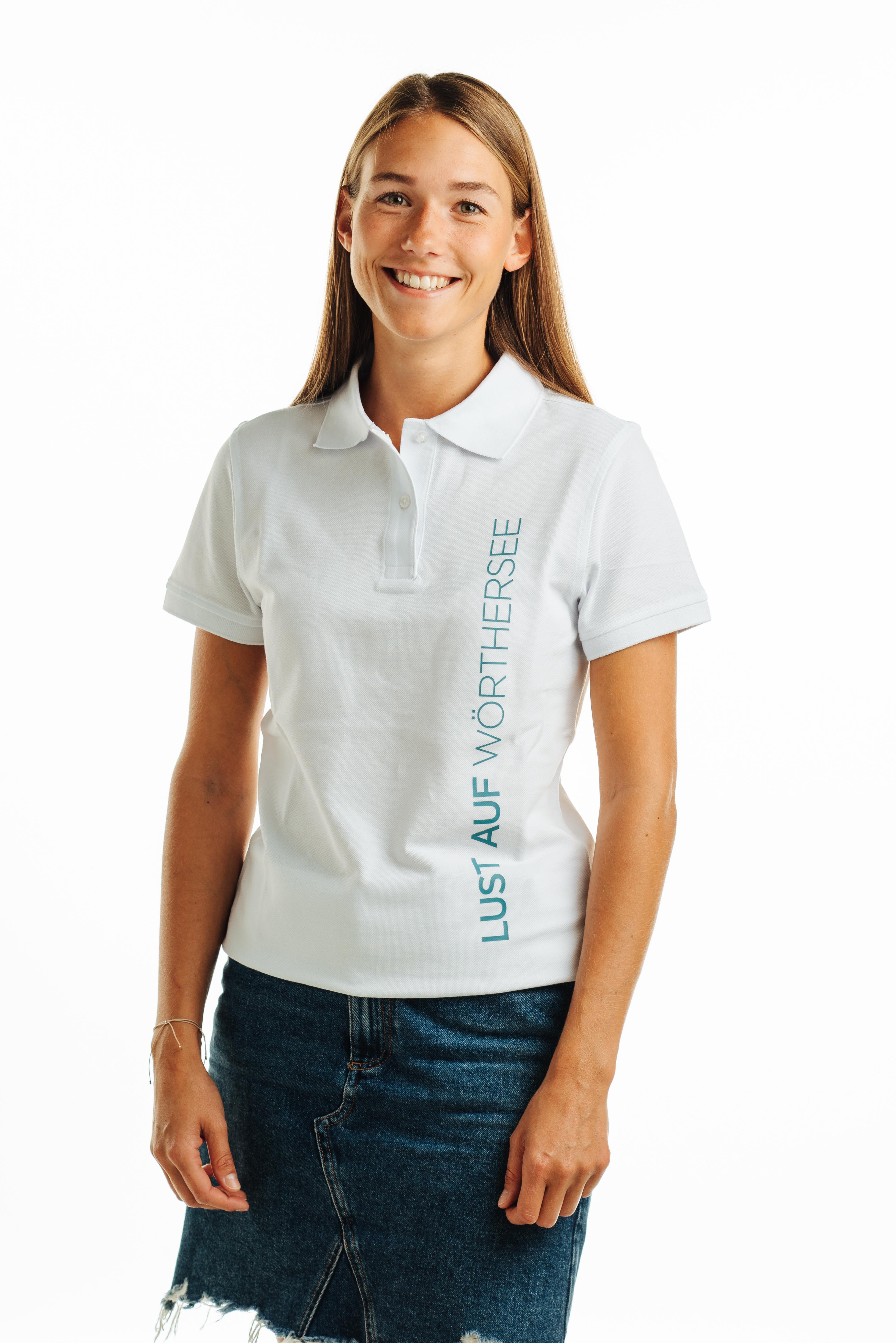 POLO Shirt Lust auf Wörthersee Damen weiß