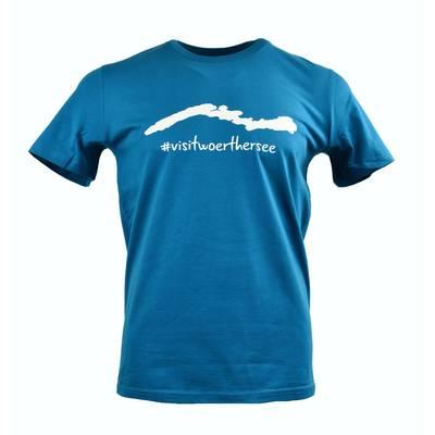 T-Shirt Silhouette Herren türkis